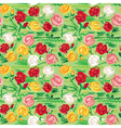 Hand painted roses seamless pattern vector image vector image