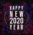 happy new year gold vector image