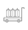 icon of luggage cart vector image vector image