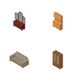 isometric furniture set of cupboard couch drawer vector image vector image