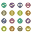 Jogging and workout icons vector image vector image