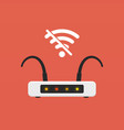 no signal wifi router flat design vector image
