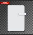 notebook on transparent background vector image