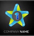 number one logo symbol in the colorful star on vector image vector image