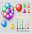 party accessorises set realistic candles vector image
