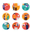 polling day flat set vector image