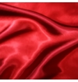 Red Silk Fabric texture vector image vector image