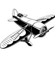 retro sport plane isolated vector image