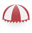 round canopy icon realistic style vector image