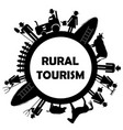 rural tourism icon vector image vector image