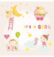 set cute bagirl - for bashower vector image vector image