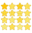 Set of patchwork stars vector image vector image