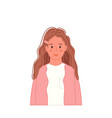smiling girl portrait in casual clothing vector image