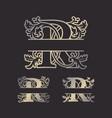 split letters monogram font alphabet vector image