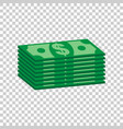 stacks of dollar cash in flat design on isolated vector image vector image