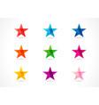 stars icons arts vector image vector image