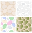 Stones Seamless Pattern Set vector image