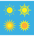 Sun icons set blue Collection vector image vector image