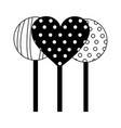 sweet lollipops isolated icon vector image vector image