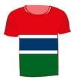 t-shirt flag gambia vector image vector image