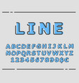 trendy flat font with abstract lines vector image vector image