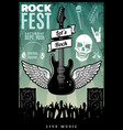vintage rock music fest template vector image vector image