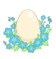 Easter egg isolated on white vector image