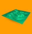 3d data chart digital vector image vector image