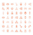 49 manager icons vector image vector image