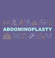 abdominoplasty word concepts banner vector image vector image
