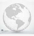 abstract dotted globe earth vector image vector image