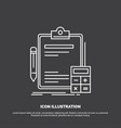 accounting banking calculator finance audit icon vector image