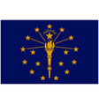 accurate correct indiana in state flag vector image