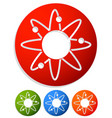 atom nucleus icon atom with orbiting electrons vector image vector image