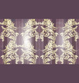 baroque gold ornament pattern background vector image vector image