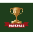 baseball championship cup vector image vector image
