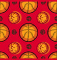 basketball sport sketch seamless pattern vector image