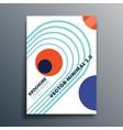 bauhaus retro geometric shapes design for flyer vector image