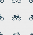 bicycle icon sign Seamless pattern with geometric vector image