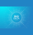 big data visualization graphic abstract vector image vector image