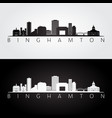 binghamton new york skyline and landmarks vector image vector image
