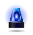 blue flashing light vector image vector image
