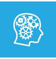brain gears 2 vector image vector image