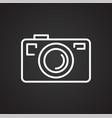 camera line icon for graphic and web design vector image