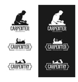 Carpentry vintage labels set Carpenter emblems