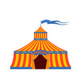 circus tent with the inscription circus vector image vector image