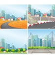 city scenes vector image