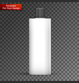 cosmetic or hygiene grayscale lid plastic bottle vector image vector image