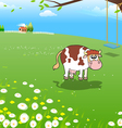 Cow on a Farm vector image vector image