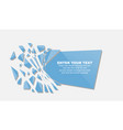 crushed elemente template message sticker blue vector image